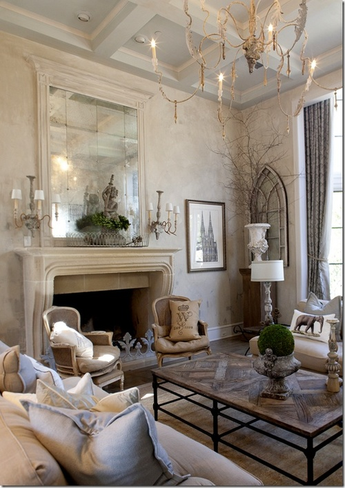 modern use of natural stone palette- very soft neutral effect