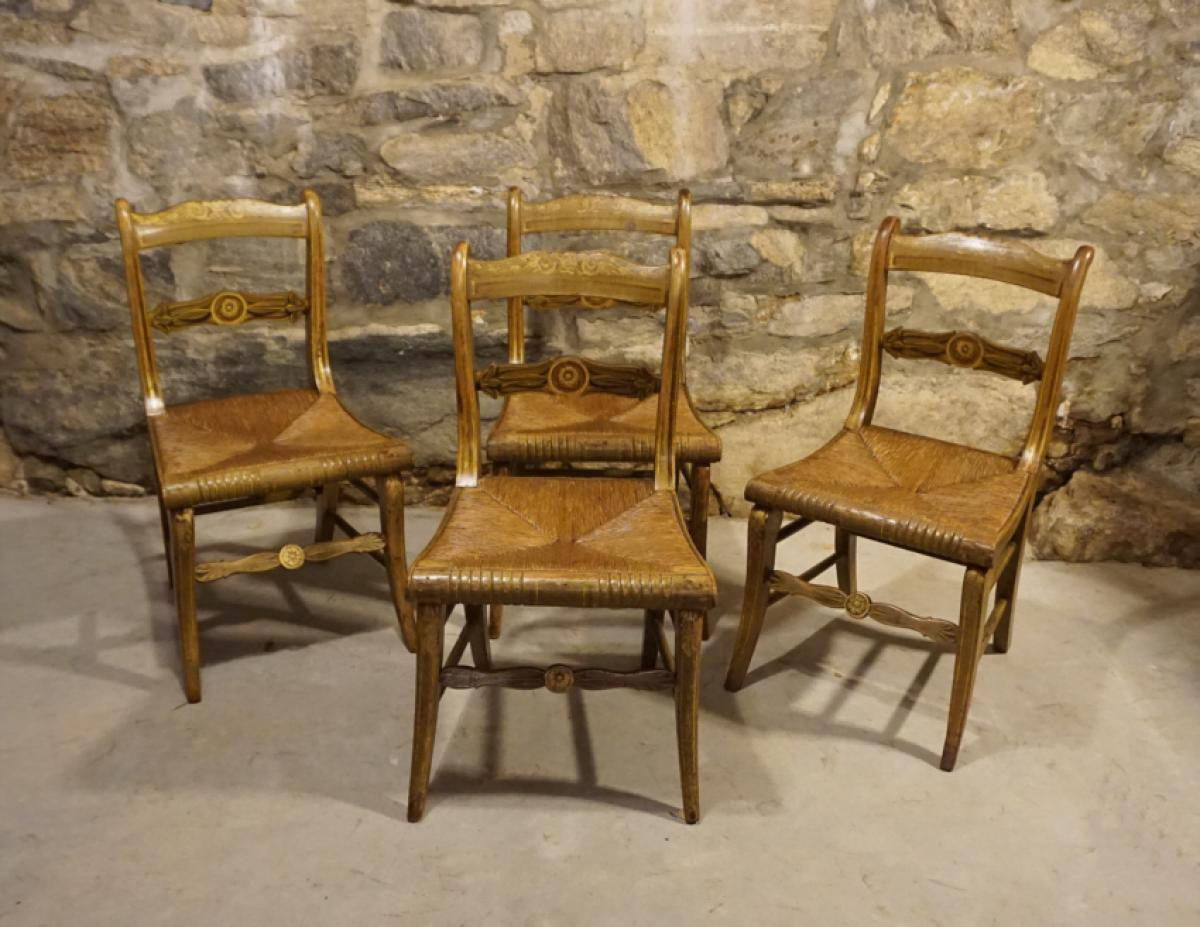 hand painted empire chairs