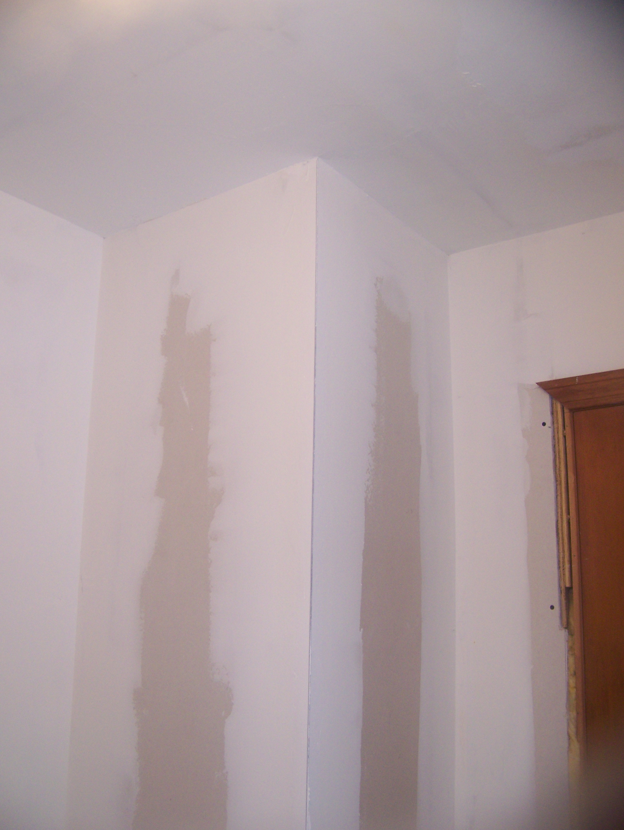 laundry drywall chase