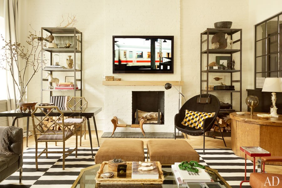 Black and tan color palette with multiple elements of style- Nate Berkus Design