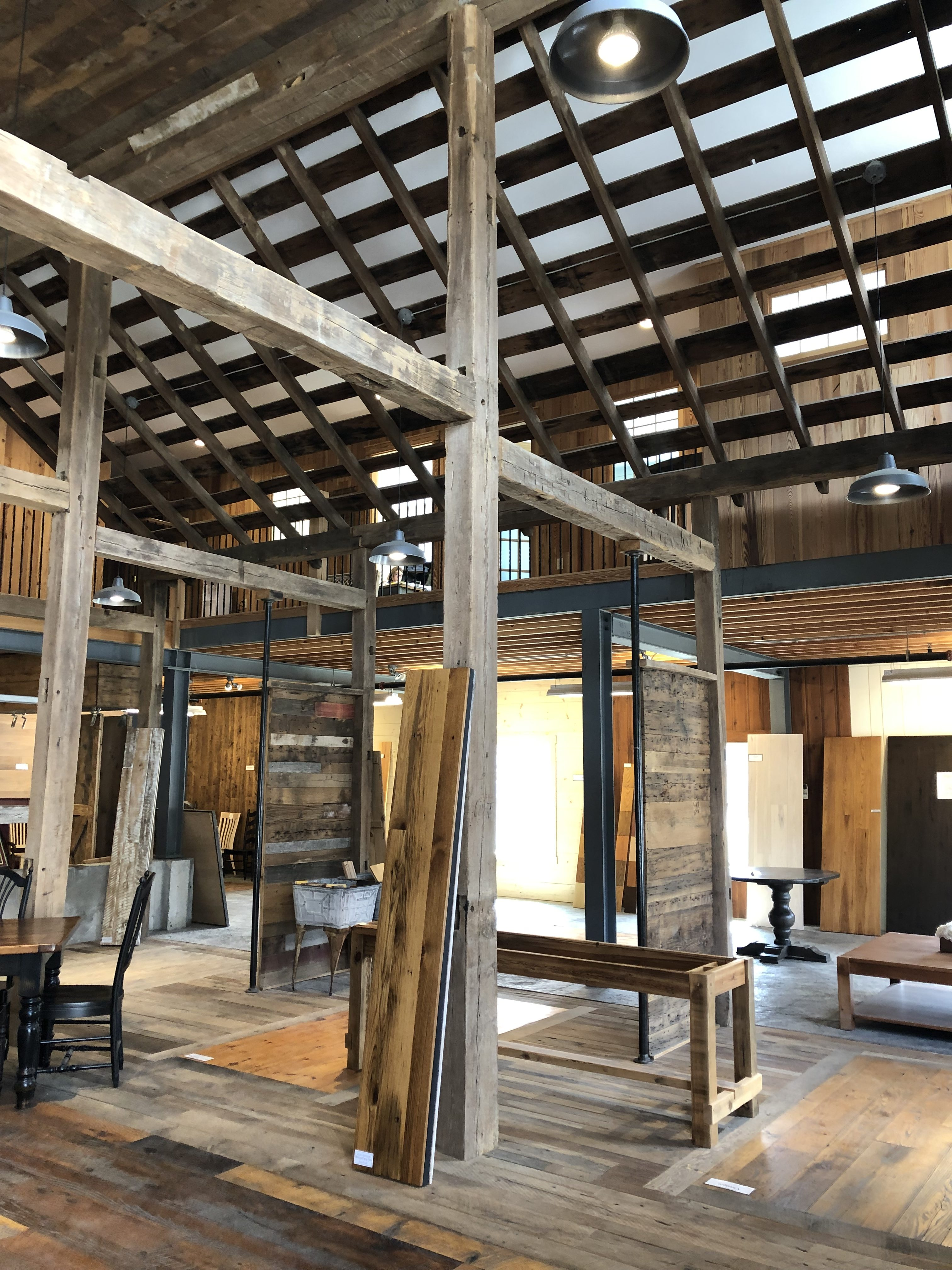 Antique barn beams