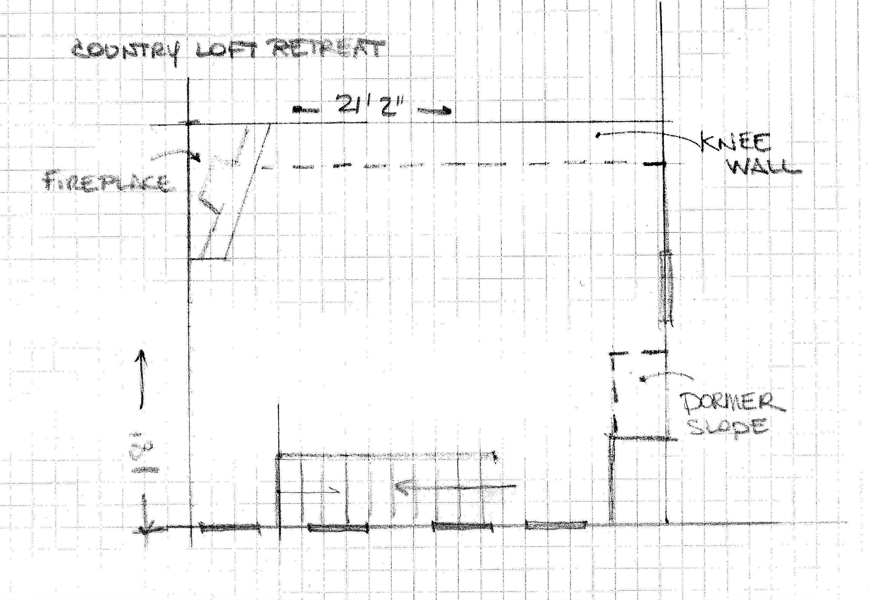 One room challenge Country Loft Retreat Floor Plan